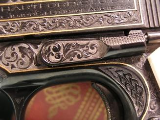 Pistol Engraving Closeup