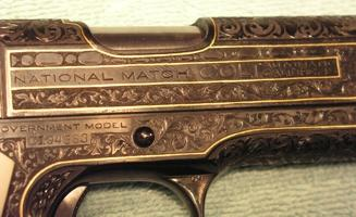 Pistol Side Engraving