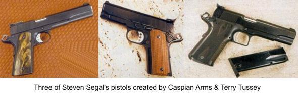 Three of Steven Seagal's Guns
